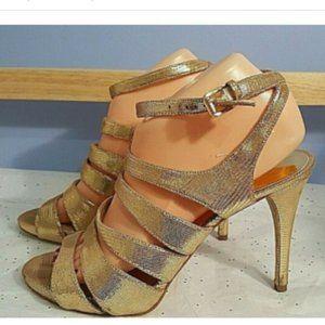 Michael Kors Shoes - Michael Kors Women's Gold Metallic Strappy Sandals